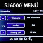 SJ6000 Review #3 – Das Menü