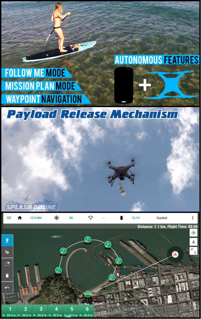 Splash drone features mm