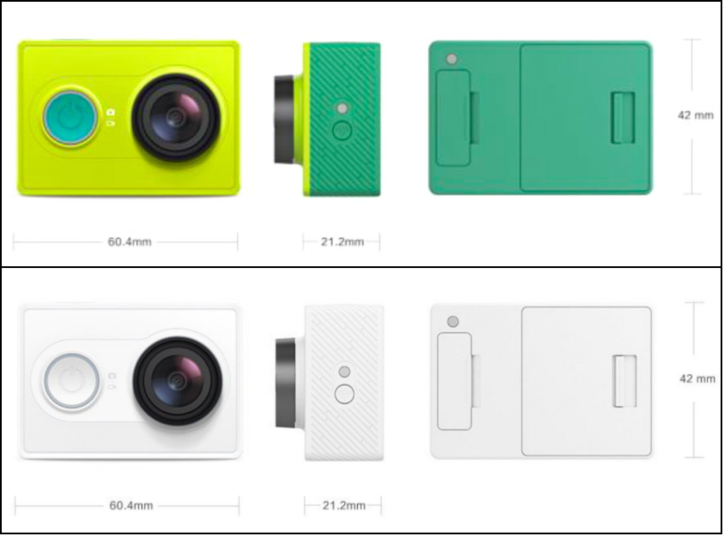 Xiaomi Yi Action Cam mm