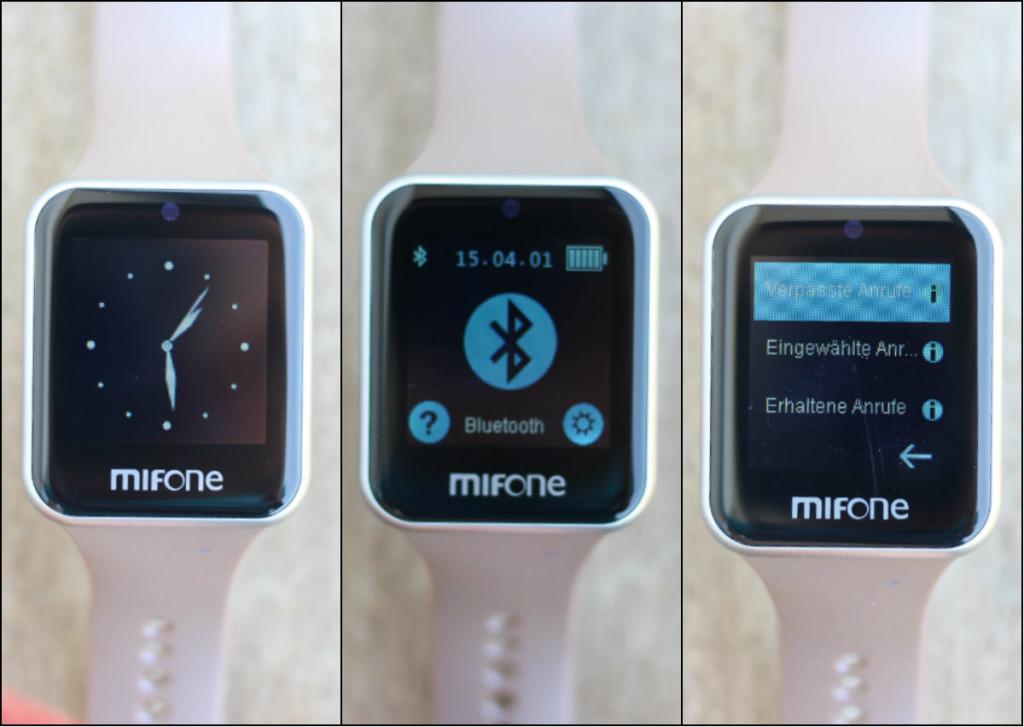 MIFONE W15 Smartwatch Smart Watch Bluetooth Apple Display Saphir 2.5D MMonkey