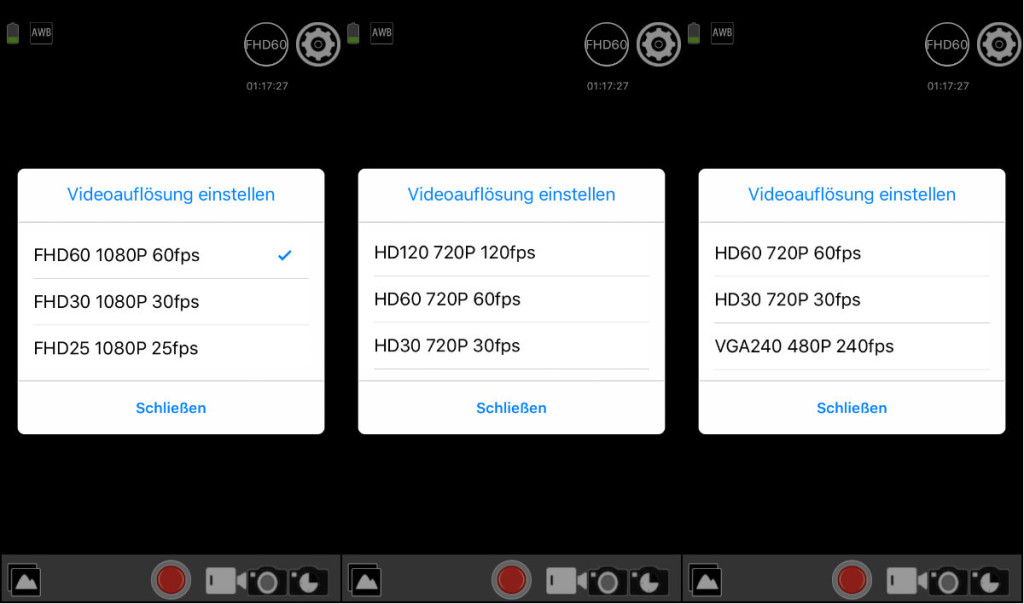 rollei actioncam 420 app wifi resolutions