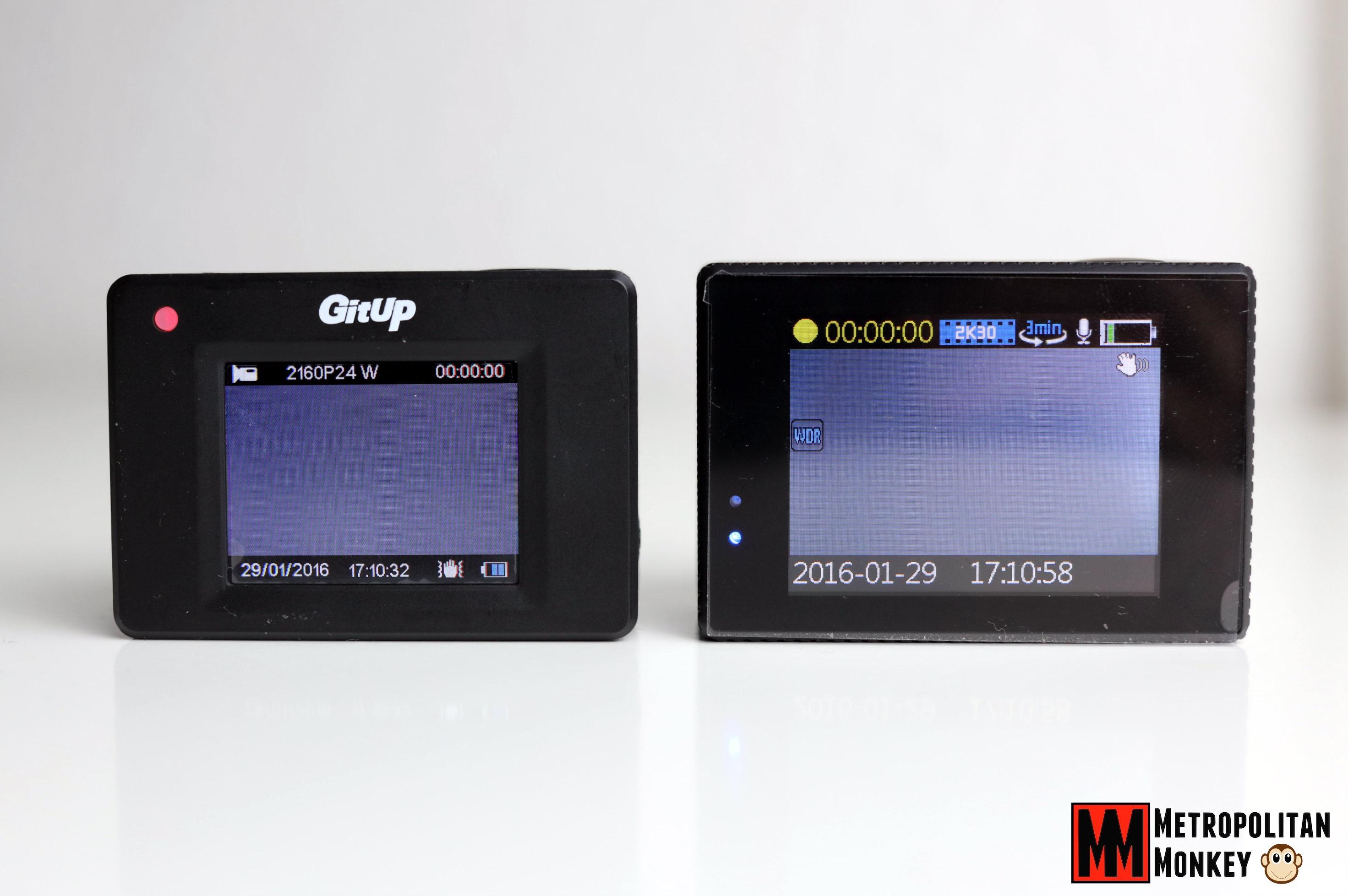 gitup git2 sjcam sj5000x elite display lcd 1.5 2.0 metropolitanmonkey.com