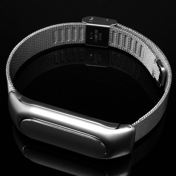 xiaomi miband milanese metal wrist arm metropolitanmonkey.com