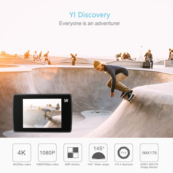 yi discovery action cam technology metropolitan monkey