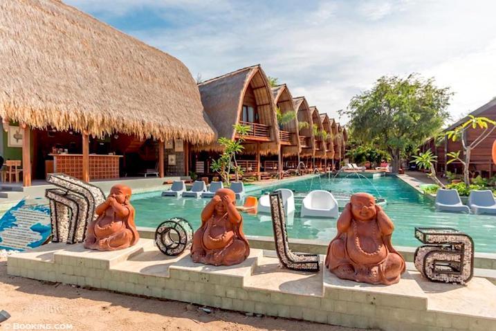 gili air hotel bali lombok metropolitan monkey