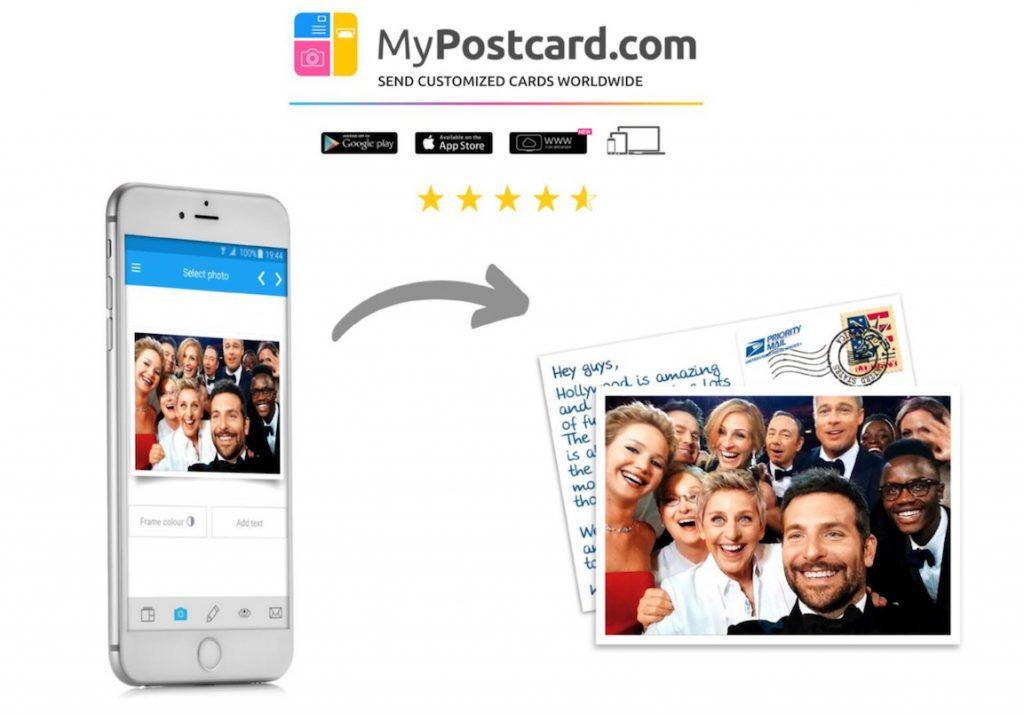 mypostcard.com app postkarten metropolitan monkey