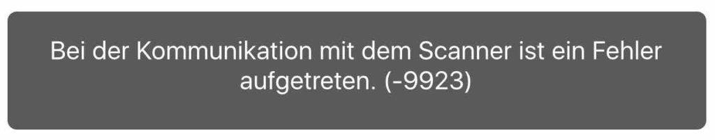 Fehler Error -9923 macOS Scanner Metropolitan Monkey