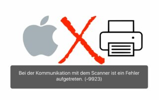 macOS Scanner Error 9923 Fehler Hilfe Anleitung Canon Espon HP Brother Help